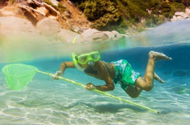 A Child In Snorkeling Gear