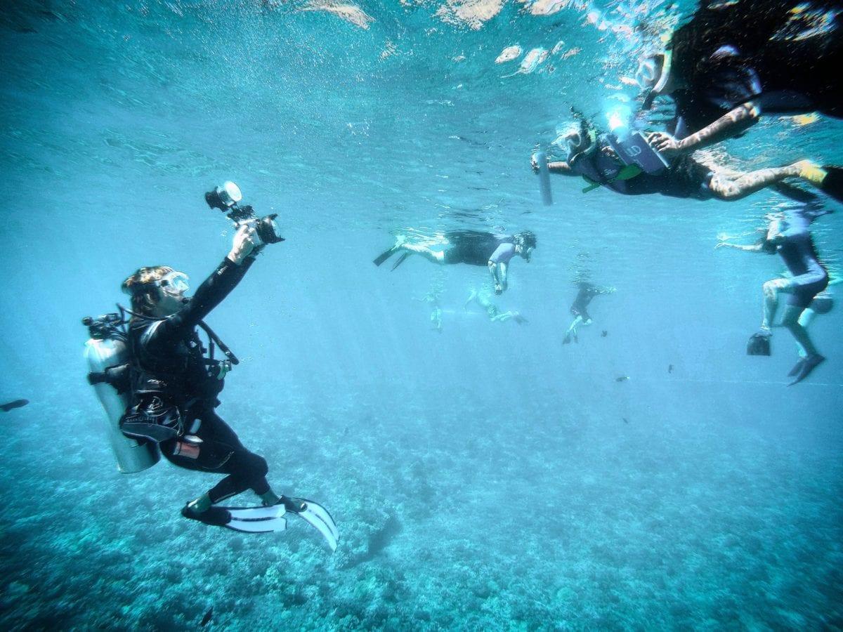 Kyle underwater