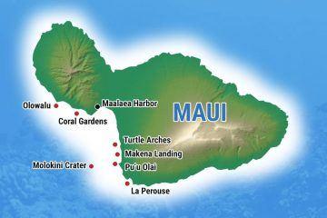 Maui Snorkeling Map