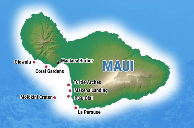 Exploring The Top Spots On The Maui Snorkeling Map