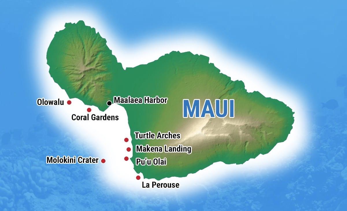 Maui Snorkeling Map - Explore the Top Spots on Maui on maui sightseeing map, maui state parks map, maui kayak map, maui hikes map, maui road map, big beach maui map, maui beaches map, turtle bay maui map, maui rainfall map, maui condo map, west maui map, maui golf map, black beach maui map, coral gardens maui map, maui restaurants map, maui travel map, south maui map, maui hiking map, turtle town maui map, maui location on map,