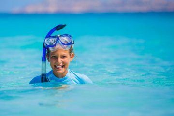 Girl With Snorkel