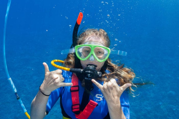 The Girl With Snorkel